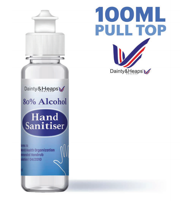 hand sanitiser 100ml pull top