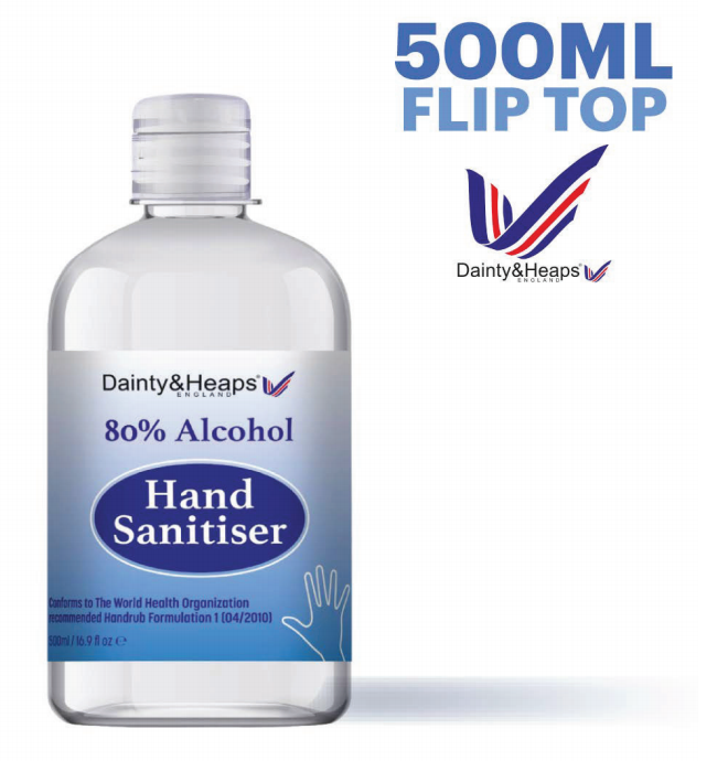 hand sanitiser 500ml flip top