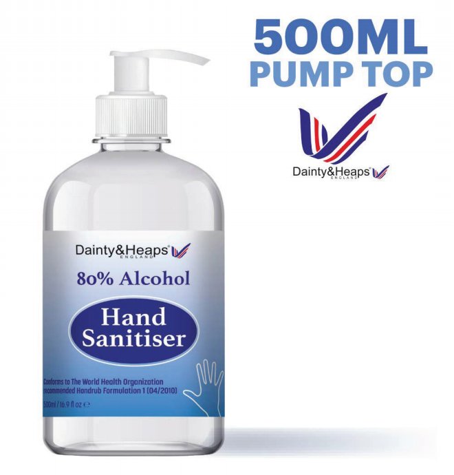 hand sanitiser 500ml pump top