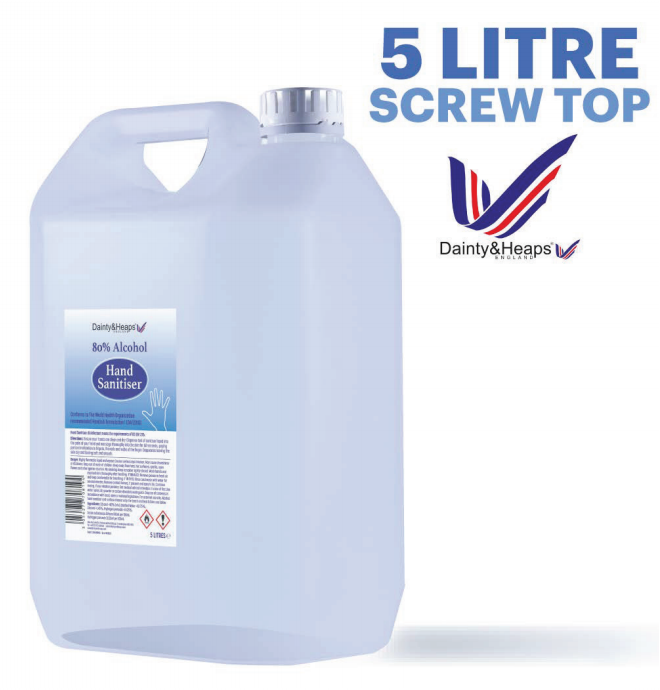 hand sanitiser 5litre screw top